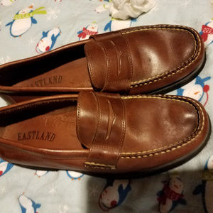 Eastland Penny Loafers Brown Slip On's